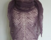 Reserved Lace Shawlette Heather Kid Silk Mohair. Custom Order.