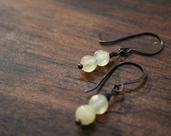 Pale Citrine Drop Earrings