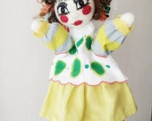 Personalized hand puppet one of a kind OOAK, customized needle felted Toy glove, gift for smart child, colorful cloth doll for game room