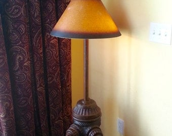 Antique Fire Hydrant Floor Lamp with Antique Fire Helmet