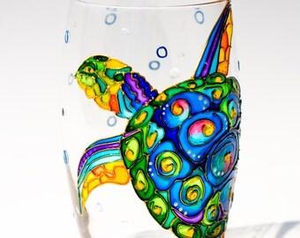 Unique Drinking Glasses Sea Turtle Wine Glasses Ocean Themed Wedding Favor Sea Life Decor