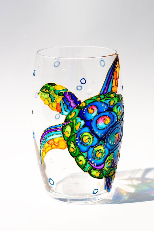 Unique Drinking Glasses Sea Turtle Wine Glasses Ocean By