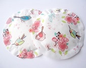 Bird Print Reusable Nursing Pads, Washable Breast Pads, No Show, Slip-Resistant, Water Proof & Soft, Spring Print MORE PRINTS AVAILABLE