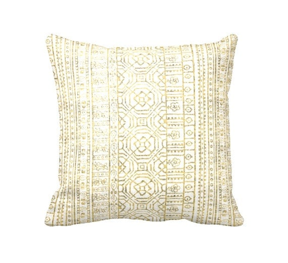 7 Sizes Available: Decorative Throw Pillow Covers Yellow