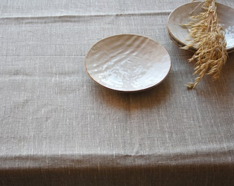Linen tablecloth Large table cover Natural linen Simple dining table Pure linen Kitchen tablecloth Rustic wedding tablecloth Country cottage