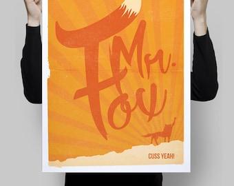 Alternative fantastic mr fox movie poster film print movie cinema wall art home decor geek wes anderson art