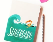 Surfboard Notebook, Typography Lyrics Art, Pop Music Illustration, Song Lyrics Art, Fun Sketchbook, Creative Stationery