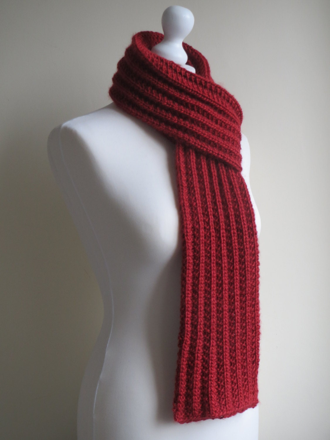 wool scarf chunky knit scarf chunky ribbed
