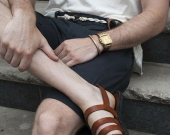 Leather Hand made Gladiator Sandals for Men and Women-Color choice