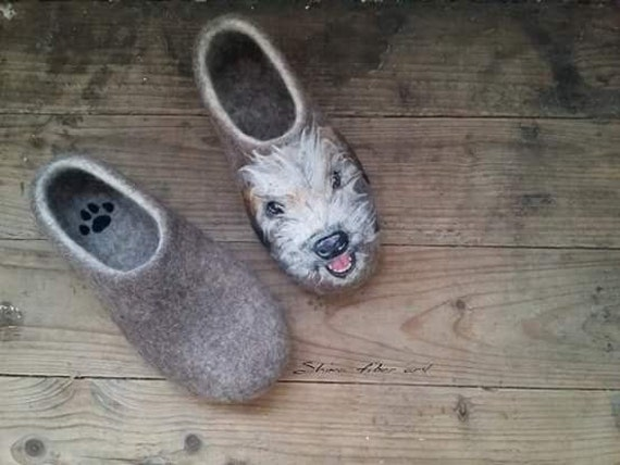 Any dog breed painted slippers Pet owner gift