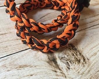 Titanium Tornado Sports necklace- orange black