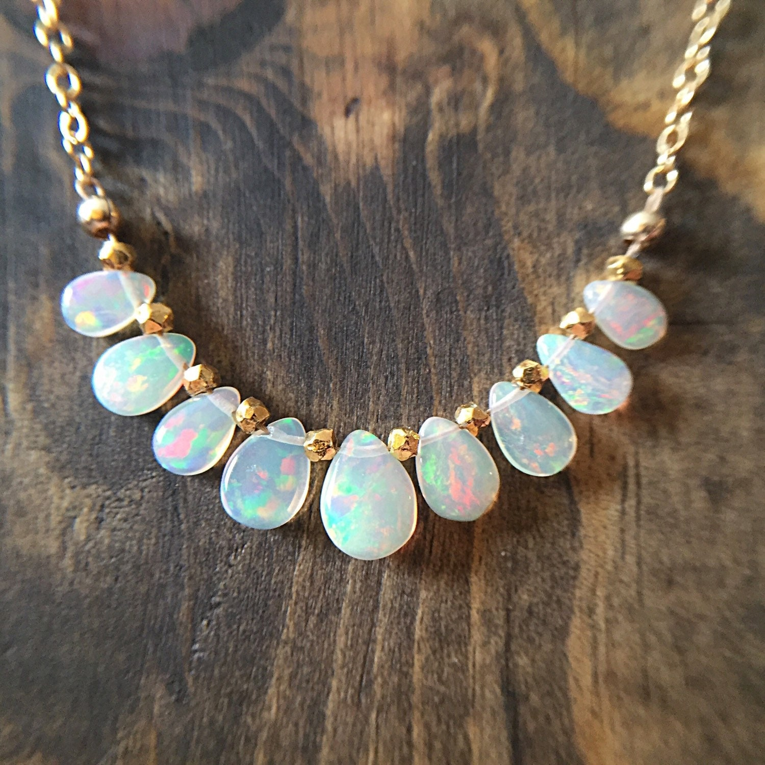 opal necklace opal briolettes genuine opals opal jewelry