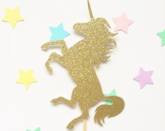 Unicorn cake topper - available in custom colours