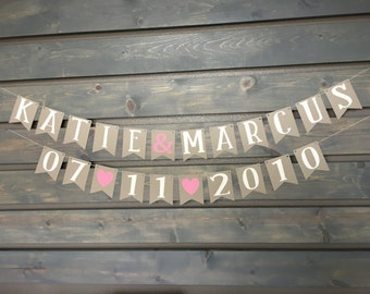 Custom Wedding Banner || Photo Booth || Wedding Decoration || Anniversary Banner || Bride & Groom || Engagement Party