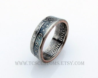 Susan B Anthony Dollar Coin Ring, Unique Ring, Coin Jewelry, Mens, Liberty, United States, Band, Rings