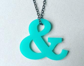 Turquiose ampersand necklace