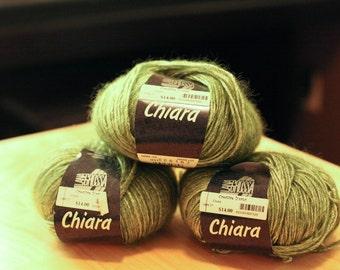 3 skeins of Lana Grossa Chiara yarn - unbelievably soft and cozy!