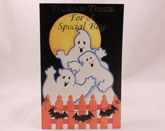 Halloween Greeting Card by Ghostly Greetings. 1 Single Card with Envelope.