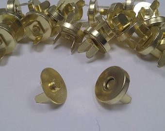 CraftbuddyUS 50sets x 14mm GOLD Magnetic snaps fasteners handbag craft buttons