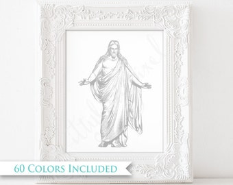 Jesus Christ Savior - LDS Digital Wall Art Print PRINTABLE Yw Young Women 2018 Sunday School Primary Children Christus Gospel Bible