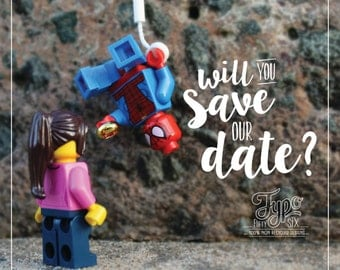 Spiderman Inspired Save The Date.