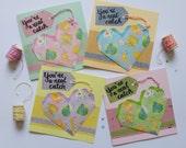 Pokemon Origami Heart Handmade Card For Loved One