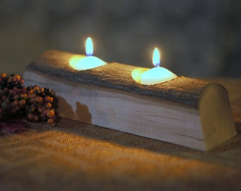 Reclaimed Wood Candle Holder - Rustic Votive Holder - Primitive Decor - Rustic Decor - Wooden Votive Holder - Rustic Home Decor - Votive