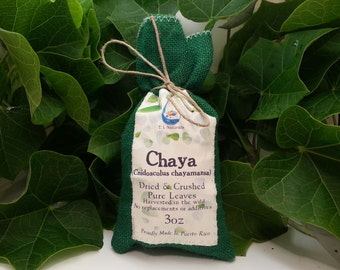 Chaya Dried & Crushed Pure Leaves (Snidoscolus Chayamansa) (3oz, 8oz, 12oz)