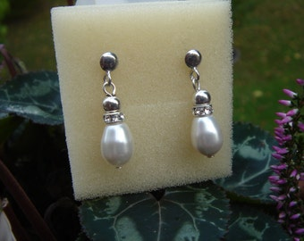 Silver and Crystal - gorgeous earrings!
