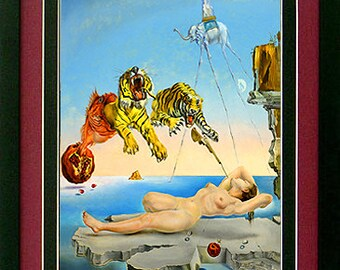 Dali Tigers Poster Custom Framed & Mated Finest Quality