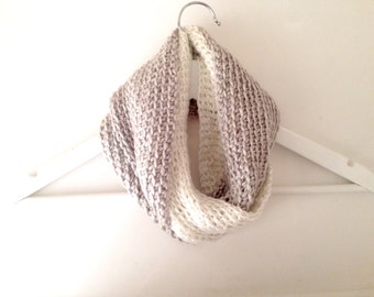 Hand Crocheted Dressing Scarf, Neck Warmer, Cowl, Loop Scarf, Infinity Scarf