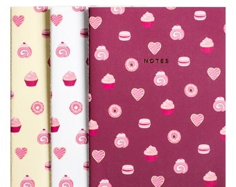 Cake Notebook Journal Diary Set