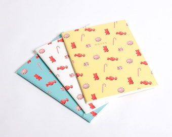 Candy Sweets Notebook Journal Diary Set