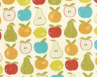 Mixed Fruit fabric in Cloud from the Garden Project fabric line by Tim and Beck for Moda Fabrics