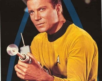 Star Trek Capt Kirk William Shatner 1995 Rare Poster