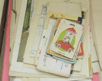 50 PC Vintage Ephemera Pack - Vintage Paper,Scrapbooking, Collage, Mixed Media, Card Making