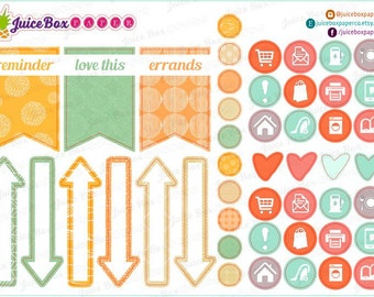 Set of 47 Peaches and Cream Icons, Arrows, and Flags Stickers