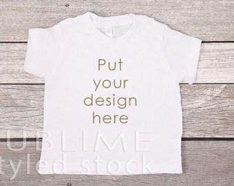 T Shirt Mockup / Shirt Template / Baby Mockup / Digital Background / White Shirt / Custom Design Background / StockStyle-725