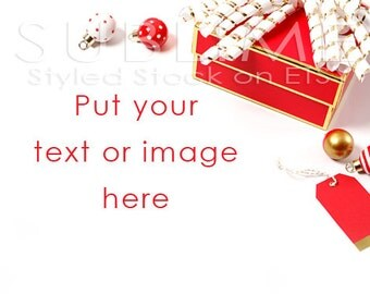 Christmas Styled Stock / Christmas Stock / Christmas Background / Christmas Mock Up / Christmas Desktop / Christmas Photo / StockStyle-599