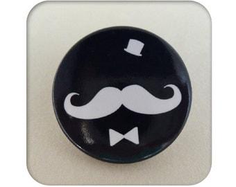 "Badge ""Mister moustache"" - set of 5"