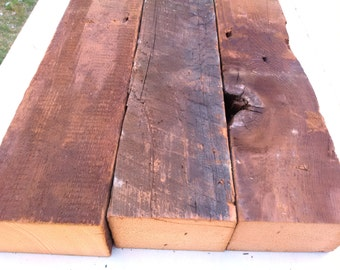 """Reclaimed Wood Beams (~3x4)(22-3/4"""" Old Wood Pieces)"""