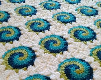 CROCHET PATTERN and CHART: Swirl-3 Baby Blanket
