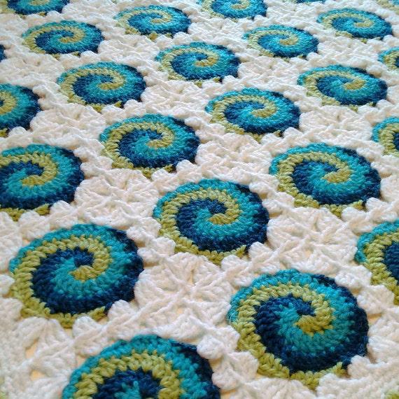 Crochet Pattern And Chart Swirl 3 Baby Blanket