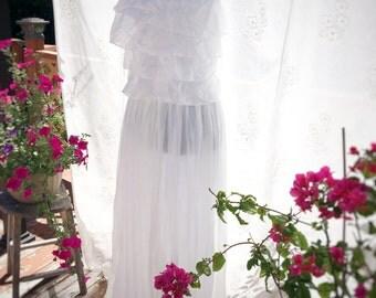 Strapless silk beach wedding gown