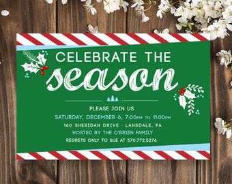 Holiday Party Invitations   Holiday Party Invite   Holiday Party Invitation Template   Office Holiday Party   We Design, You PRINT!