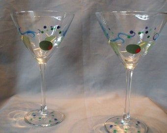 Art Deco Martini Glass