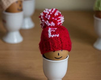 Monogram Egg Cozy hand knitted, Knitted Egg Cosy, Easter Egg Cosy, egg warmers