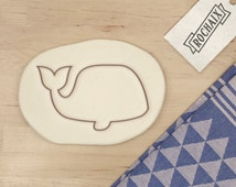 Whale Cookie Cutter - Sea Animal Cookie Cutter Blue Ocean Baby Shower Cookie Cutter - 3D Printed