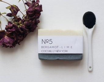 Bergamot & Lime Charcoal Soap // Cold Process // Vegan