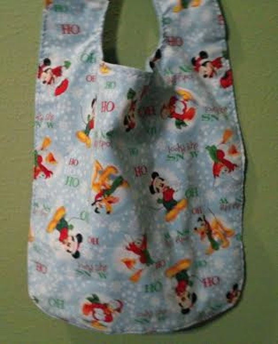 Mickey and friends Christmas themed adult/large bib